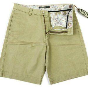 Berle Shorts Washed Stoned & Beaten Khaki SZ 32